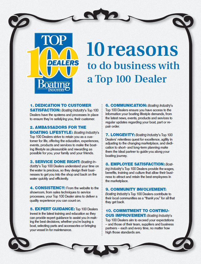 10 reasons to do business with a Top 100 Dealer