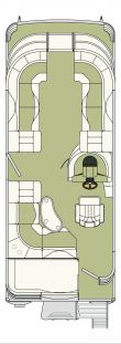 Bennington 2275 QXi floor plan