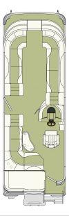 Bennington 2575 QXi floor plan